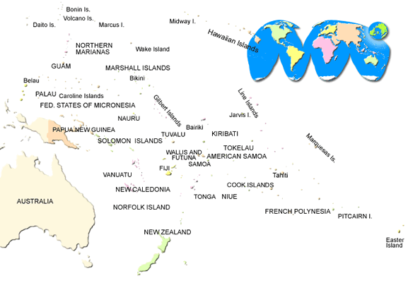 Pacific map